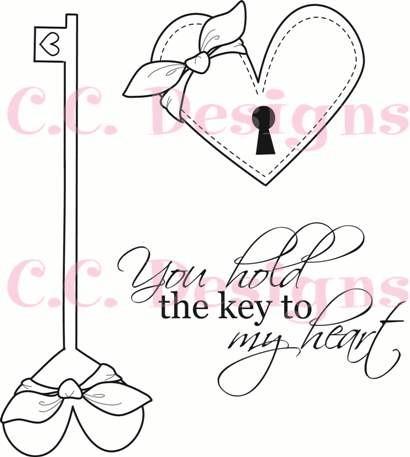 C.C.Designs Stempel-Set Schlüssel u. Schlüsselloch / Swiss Pixie Key & Lock SWK&L