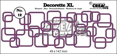 Crealies Stanzform Decorette XL Nr. 12 verflochtene Quadrate CLDRXL12