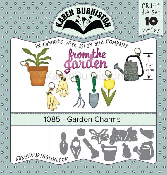 Karen Burniston Stanzform Garten-Charms / Garden Charms 1085