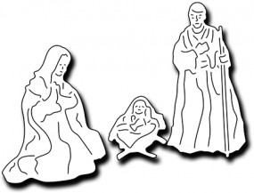 Frantic Stampers Stanzform Maria, Joseph u. Jesuskind / Jesus, Mary and Joseph FRA-DIE-09989
