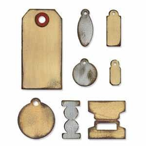 Sizzix Stanzform BIGZ Tiny Tabs & Tags ( Tim Holtz ) 657188