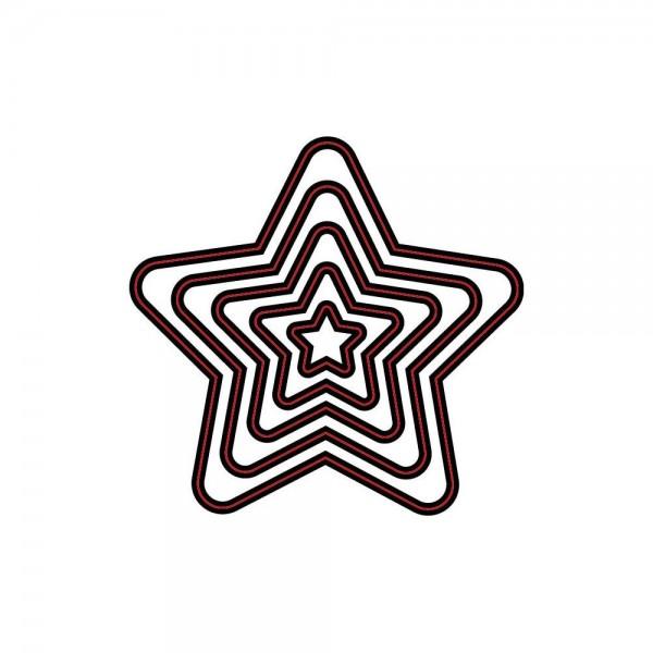 Darice Stanzform Sterne / nesting stars 2014-17