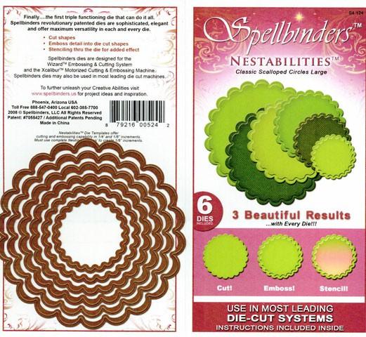 Spellbinders Stanzform Classic Kreise gewellt groß/classic scalloped circle lg S4-124