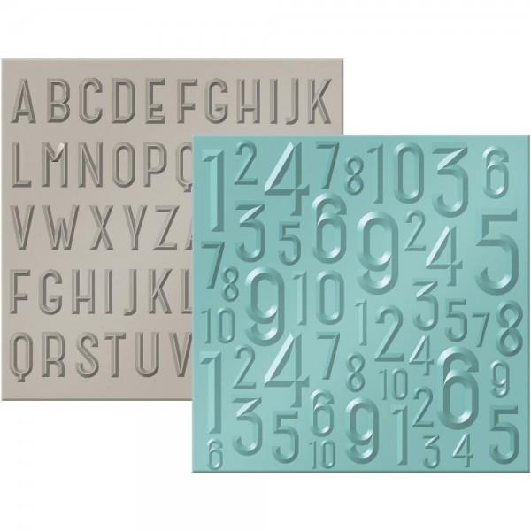 """We R Memory Keepers Prägefolder 6 """" x 6 """" ABC & 123 662690"""