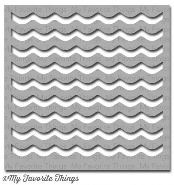 Dienamics Stencil Plastik-Schablone Wellen / Waves ST-37