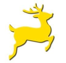 Motivstanzer Groß Rentier ( gelb ) UR 1949 00 76
