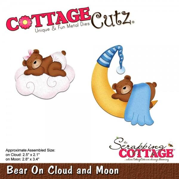 CottageCutz Stanzform Bär auf Wolke u. Mond / Bear On Cloud and Moon CC-296