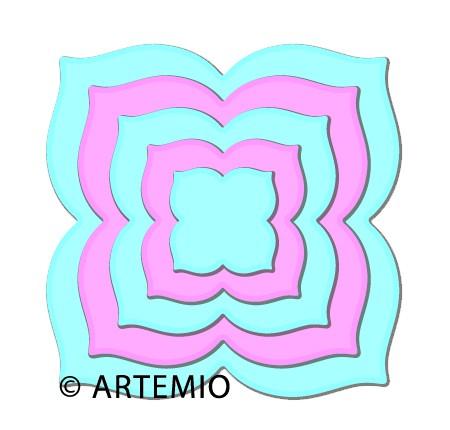 Artemio Happycut Stanz-u.Prägeformen Quadrat Blattform 18043004