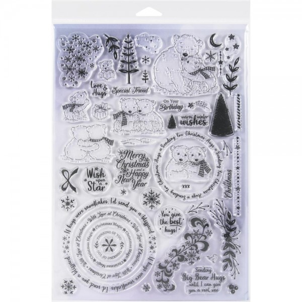 Creative Expressions Angela Poole A 4 Photopolymer Stamp Set WINTER SNUGGLES APWSSS04
