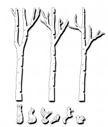 Frantic Stampers Stanzform Birkenstämme,Hase,Vögel u.Eichhörnchen/Birch Tree Forest FRA-DIE-10034