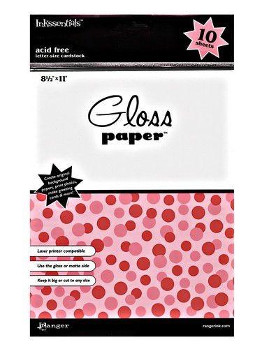 Ranger Gloss Paper ca. A 4 WEISS PAP12887