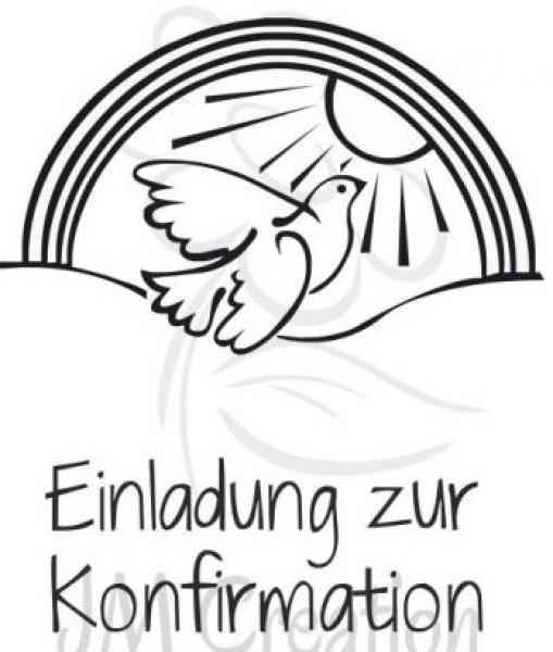 Jm Creation Stempel Einladung Zur Konfirmation   Taube 07 00055