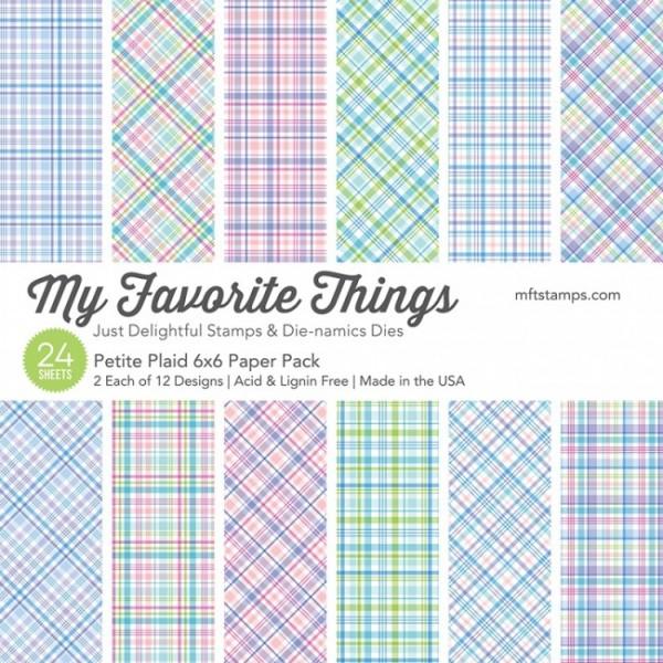 "My Favorite Things Paper Pack 6"" x 6 "" PETITE PLAID EP-57"
