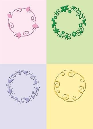Cuttlebug Prägefolder-Set verspielte Kreise / playful circles 37-1240