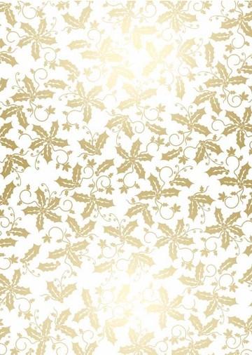 Weihnachtspapier Blätter WEISS A 4