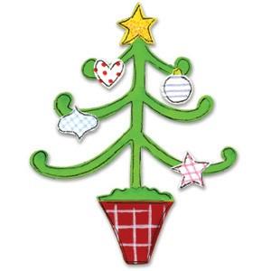 Sizzix Stanzform Originals LARGE Weihnachtsbaum mit Dekoration 655536
