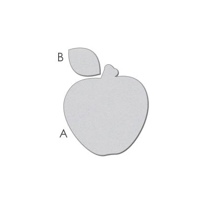 WPlus9Design Stanzform Apfel / Prestty Patches Apple WP9D-029