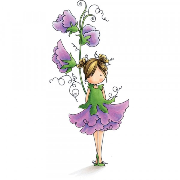 Stampingbella Cling Stempel Garden Girl Sweetpea EB504
