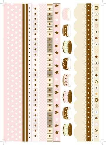 Transparent-Papier A 4 Streifen rosa u. braun 61813