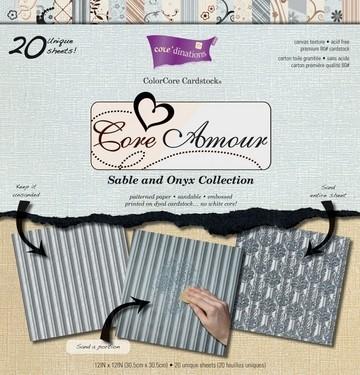 Papierblock ColorCore Core Amour 30,5x30,5 cm GX-CAA-12 ( hellbl