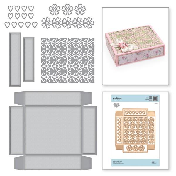 Spellbinders Stanz- u. Prägeform Heart Flower Box S6-146