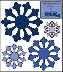 Crealies Creative Flowers # 1 ( blau ) CLCF-01