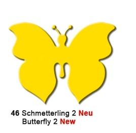 Motivstanzer Groß Schmetterling ( gelb ) UR 1949 00 46