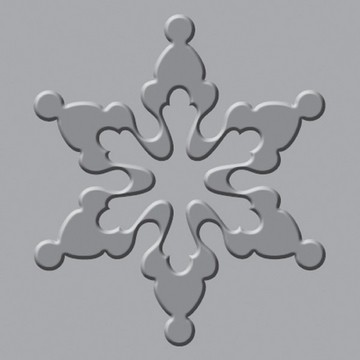 Crop-A-Dile-III Squeeze Prägeplatte Schneeflocke 71073-8