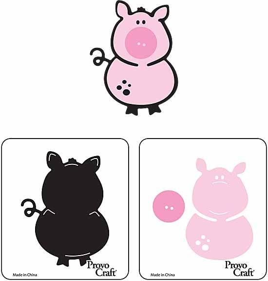 Cuttlekids 2-er Set Schwein / pig 62-0068