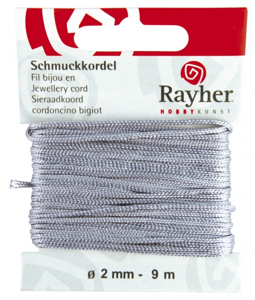 Schmuckkordel 2 mm GRAU 89-569-25