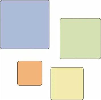 Cuttlebug Stanzform 4-er Set KLEIN Quadrate runde Ecken / rounded square 37-1217