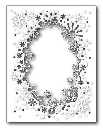 Memory Box Stanzform Schneeflocken-Rahmen / Flurry Snowflake Frame 99278