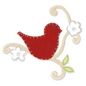 Sizzix Stanzform BIGZ Vogel auf Ast / bird w/vine 655541 / 656354