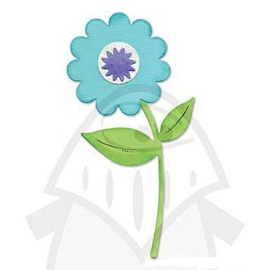 Sizzix Stanzform Originals LARGE Blume mit Stil u. Blätter / flower , stem & leaves 655964