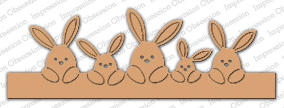 Impression Obsession Stanzform Hasen-Border / Bunny Border DIE664-T