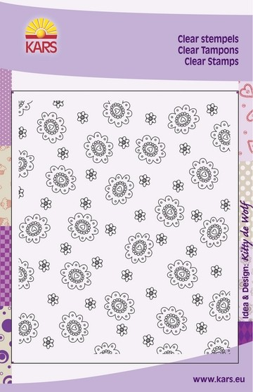 Clear Stamp Flower with Heart