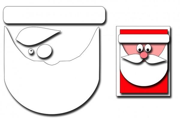 Frantic Stampers Stanzform Karte Nikolaus-Gesicht / Santa Face Card Maker Santa FRA-DIE-10011