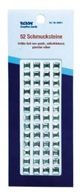 Schmucksteine selbstklebend Quadrate klar 60021
