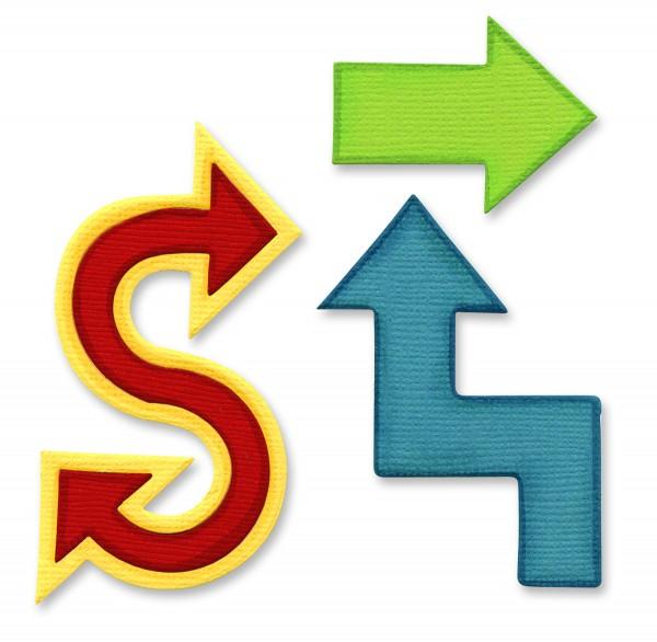 Sizzix Stanzform Originals LARGE Pfeile # 2 / arrows # 2 656044