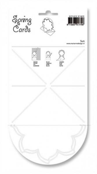 Schablone Spring Card SUN SC 6610