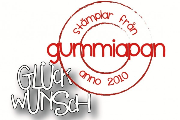 Gummiapan Stanzform ' Glückwunsch ' D190314