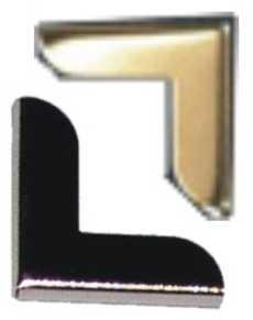 Metallecke LARGE SILBER eckig 10569
