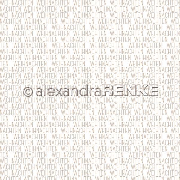 Alexandra Renke Designpapier ' Weihnachten Gold ' 10.1554