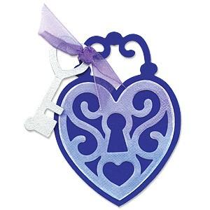 Sizzix Stanzform BIGZ Herzschloß / locket heart 655376