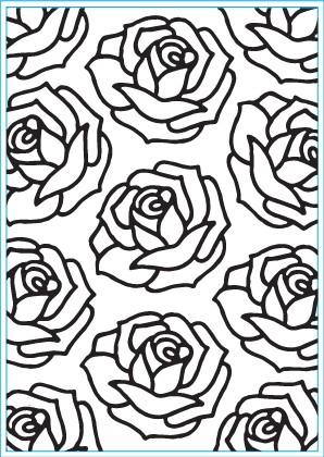 Elizabeth Craft Prägefolder Roses E124
