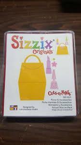 Sizzix Originals Large Tasche, Lippenstift u. Nagellack / purse & accesories 38-1201 / 654670
