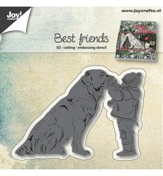 Joycrafts Stanzform Hund u. Kind / Best Friends 6002/0947