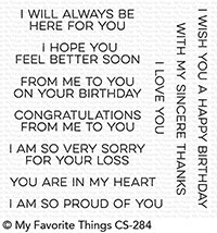 My Favorite Things Clearstempel-Set From Me to You CS-284