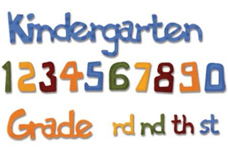 Sizzix Stanzform Sizzlits Border Phrase Kindergarten 12th Grade 656709