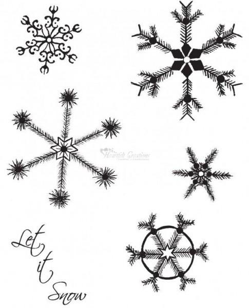 Heartfelt Creations Stempel Single Snowflakes HCPC3344